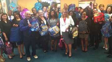 Sundance Vacations Washington DC Office Packs Book Bags for Fairfax County