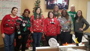 Sundance Vacations Tamaqua employees show off their holiday attire!